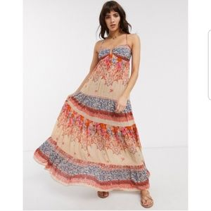 NWT Free People Give A Little Maxi Dress Floral